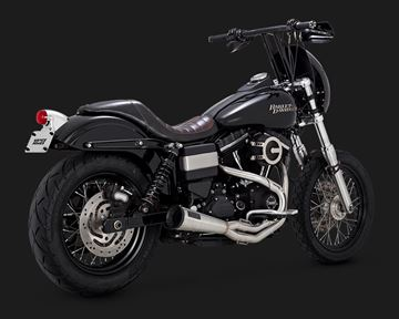 Immagine di Scarico 2 in 1 Vance & Hines Upsweep per Dyna
