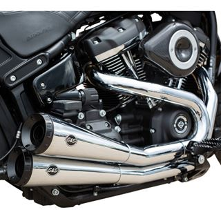Immagine di Scarico S&S Grand National per Softail FXFB