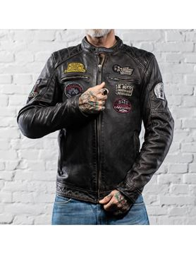 Giacca Holy Freedom in pelle black vintage